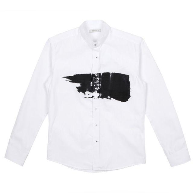 남자셔츠 차이나카라 붓터치 셔츠 J0417005