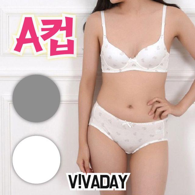 주니어속옷 VIVADAY-CN17 주니어3단계와이어브라팬티세트 주니어팬티 주니어브라