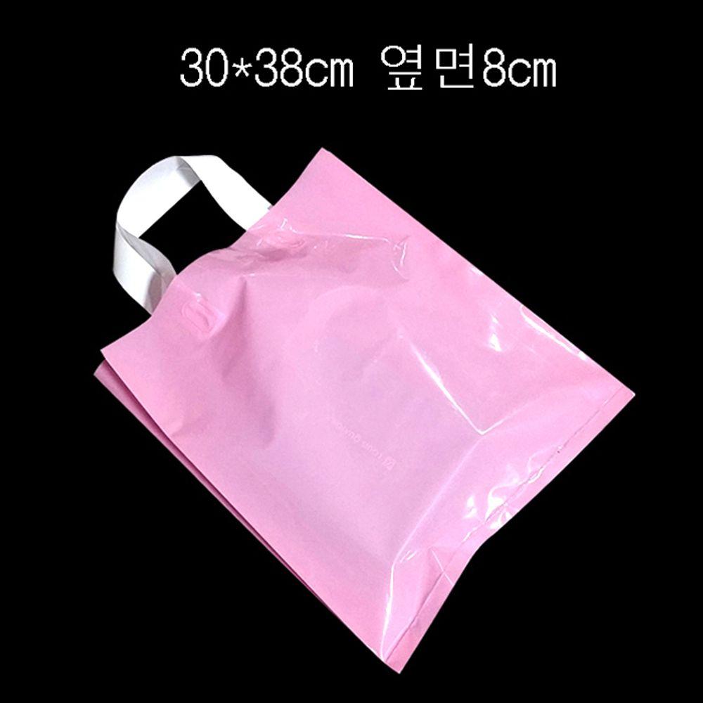 PE 손잡이 팬시봉투 -연핑크 30X38cm 옆면8cm 25매