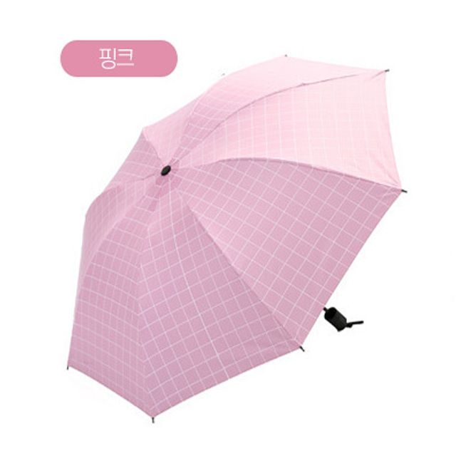 여름 UV차단 초경량 미니 모던 암막 양우산 핑크