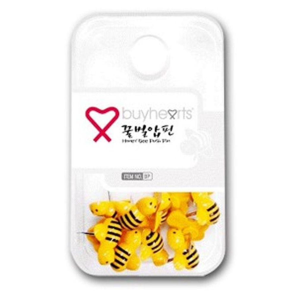 꿀벌 압핀 압정 고정핀 푸시핀 메모클립 게시물꽂이