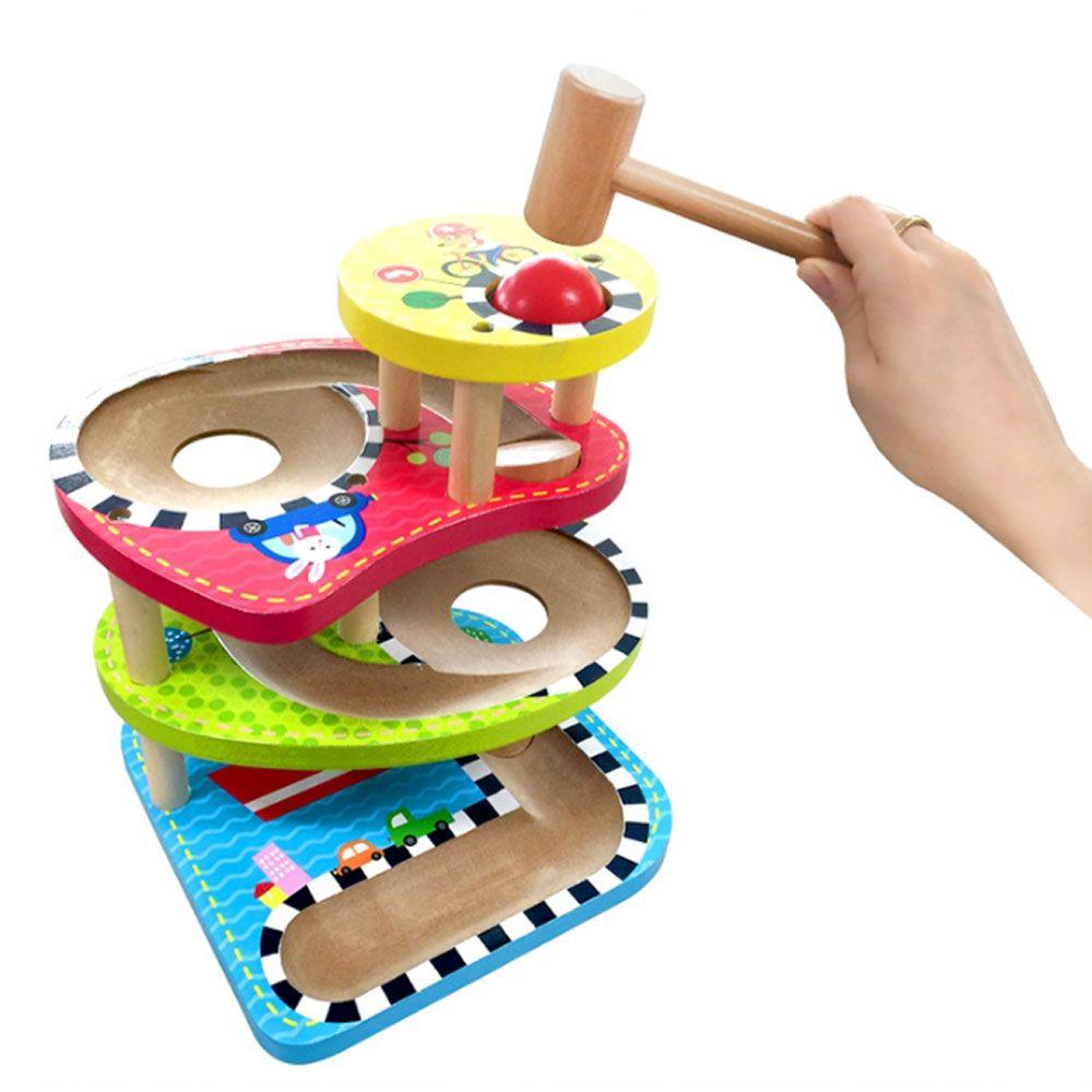 유아 아동 집중력 공간 감각 발달 원목 망치 놀이
