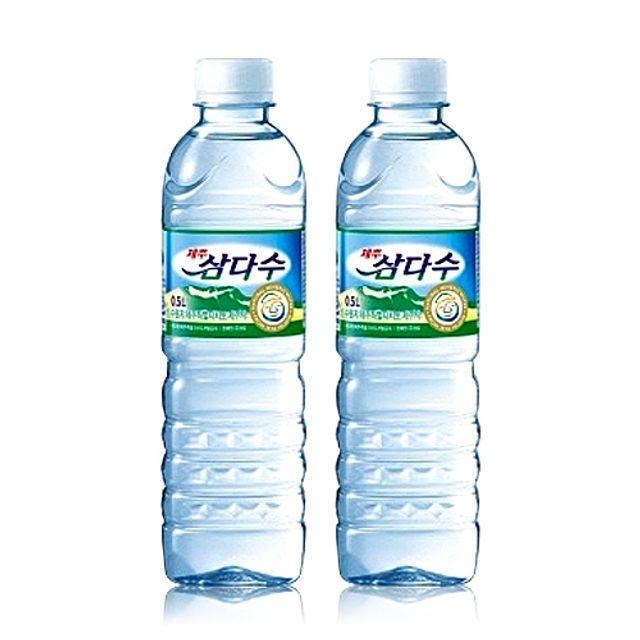 생수 먹는샘물 제주 삼다수 생수 먹는샘물 500ml 40개