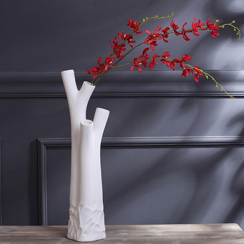 (V18)인테리어 나무 도자기 인테리어 꽃병
