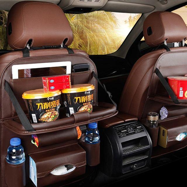 W51BDDF 시트백 수납 다용도 테이블 차량용 정리함