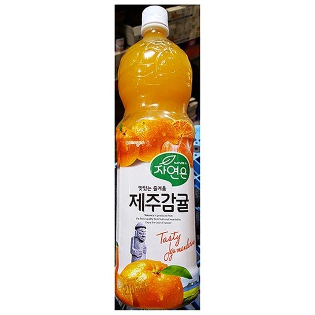 웅진 과채음료 과일주스 제주 감귤 주스 1.5L 12EA