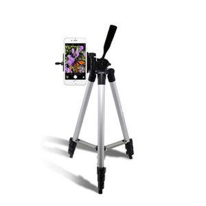아이티알,LX 카메라 핸드폰 삼각대 여행용 미니 거치대 4절 실버