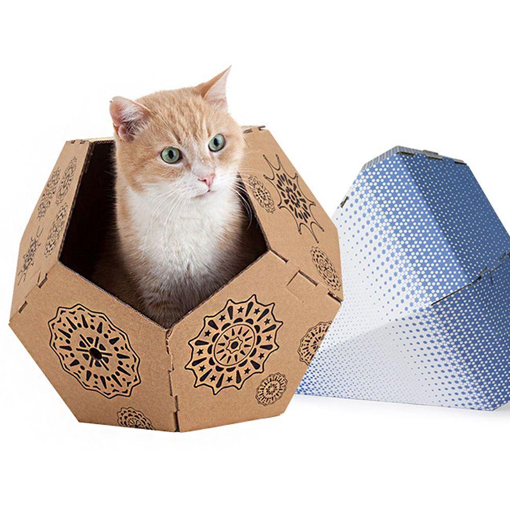 고양이 플레이 박스 브라운 고양이 전용 쉼터