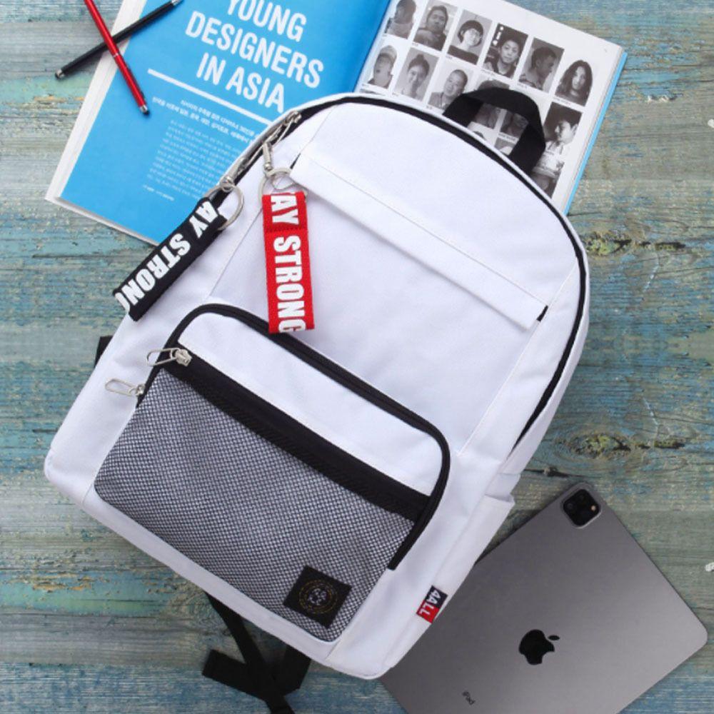 유행 10대 학원 망사 백팩 학교 책가방 흰색 가방