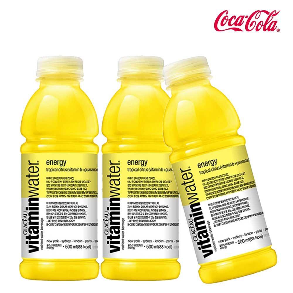 글라소 비타민워터 에너지 500ml X 6개 비타민워터