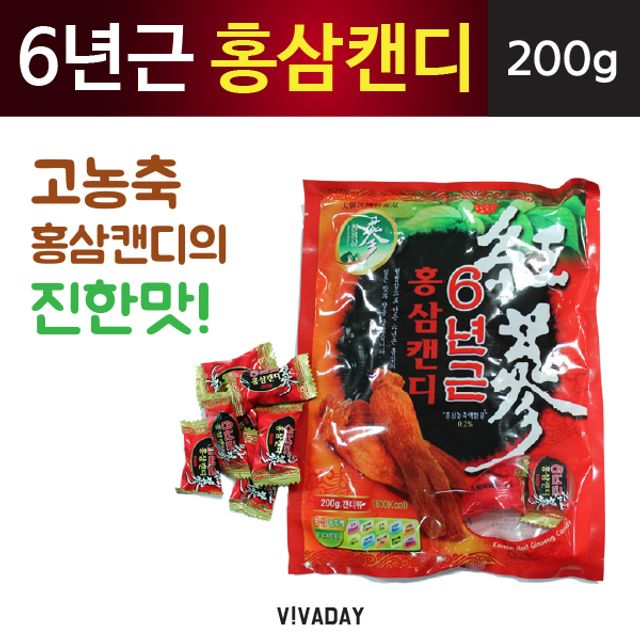 6년근 홍삼캔디 - 200g