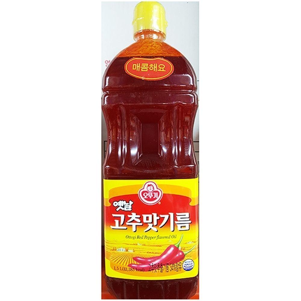 고추맛기름 향미유 식자재도매 1.5LX1개 오뚜기
