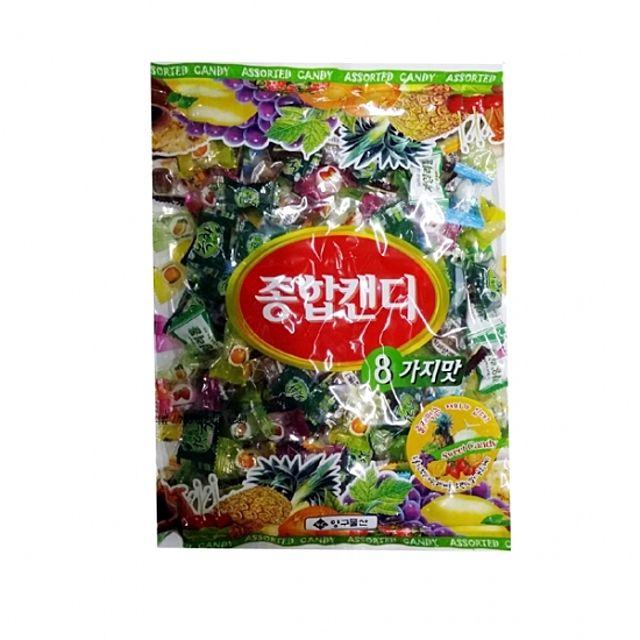 푸드) 양구 종합캔디사탕(8가지맛.봉지) 700g