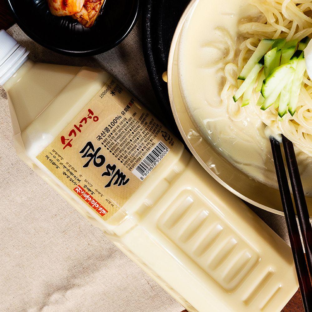 국산콩 100프로 콩물 1리터/콩국수면 1kg