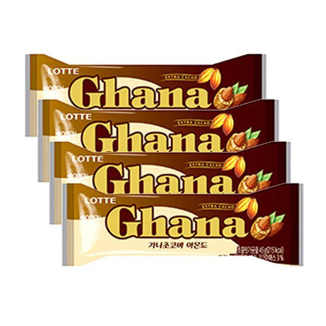 가나 초코바 아몬드 45g 4개 아이들 간식 초콜