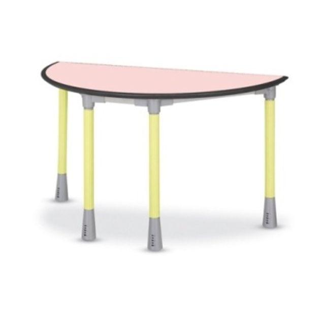 학원 공부방 학교 테이블 다용도책상 반원형 높이조절