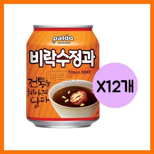 팔도 비락 수정과캔 238mlx12개
