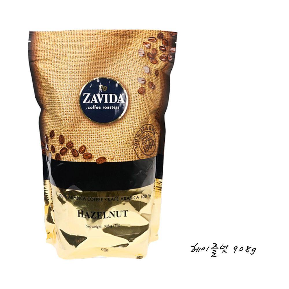 ZAVIDA COFFEE 헤이즐넛 908g 향커피 원두 분쇄커피