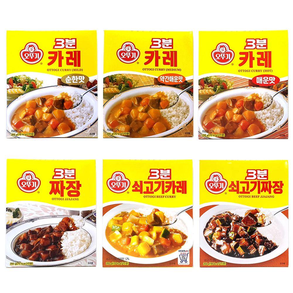 3분요리 오뚜기/ 카레 짜장 매운맛/ 1인분용/자취요리