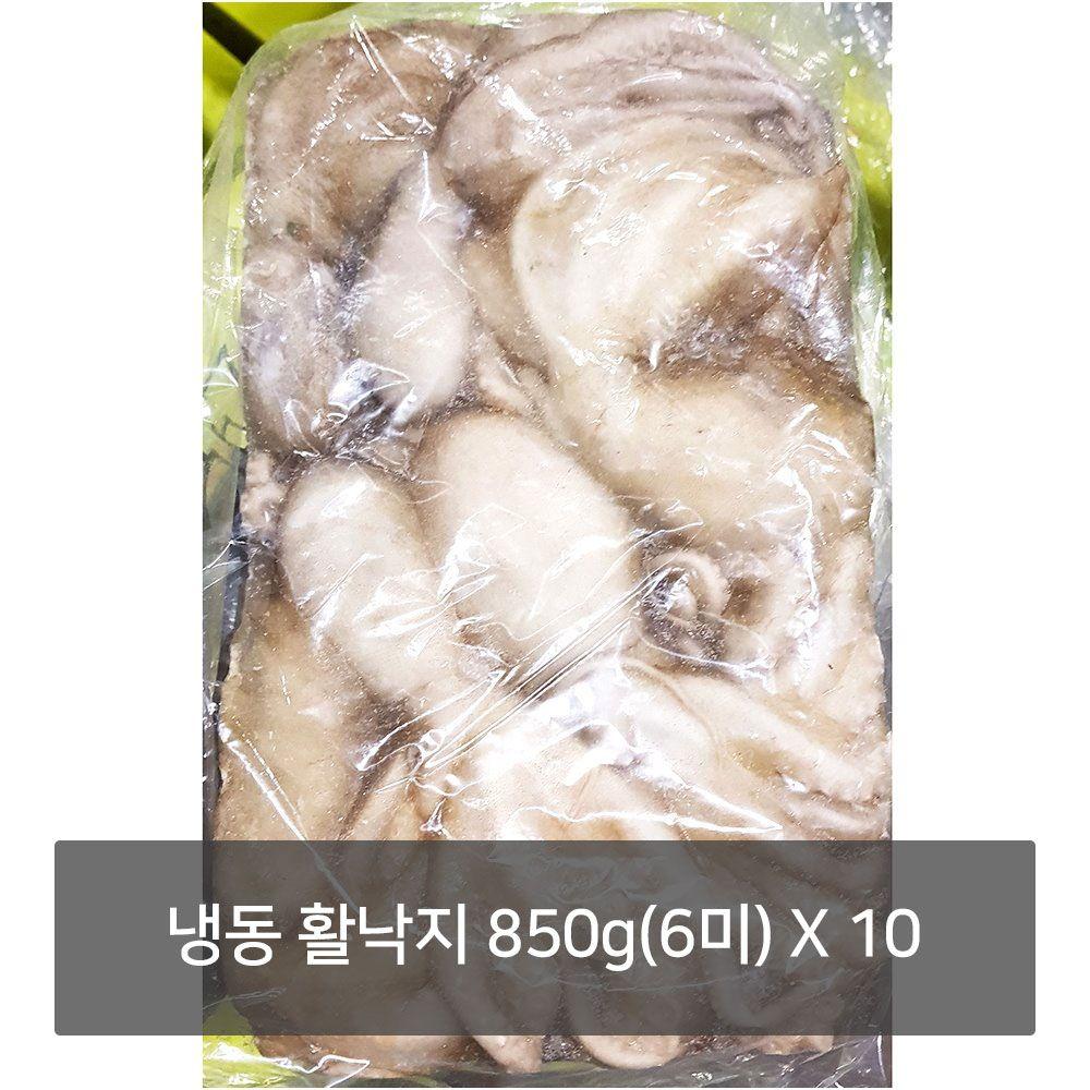 냉동 활낙지 850g(6미)X10 식당 음식점 업소용