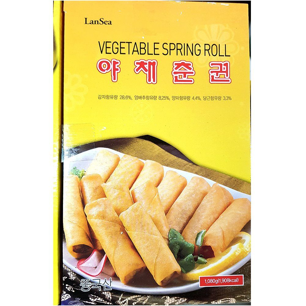 업소용 중식 식당 식자재 재료 랜시 야채춘권 1.08kg