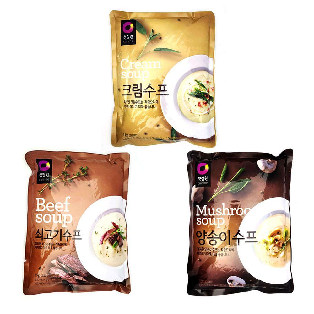 청정원 대용량 수프1kg/양송이스프 크림수프 쇠고기슾