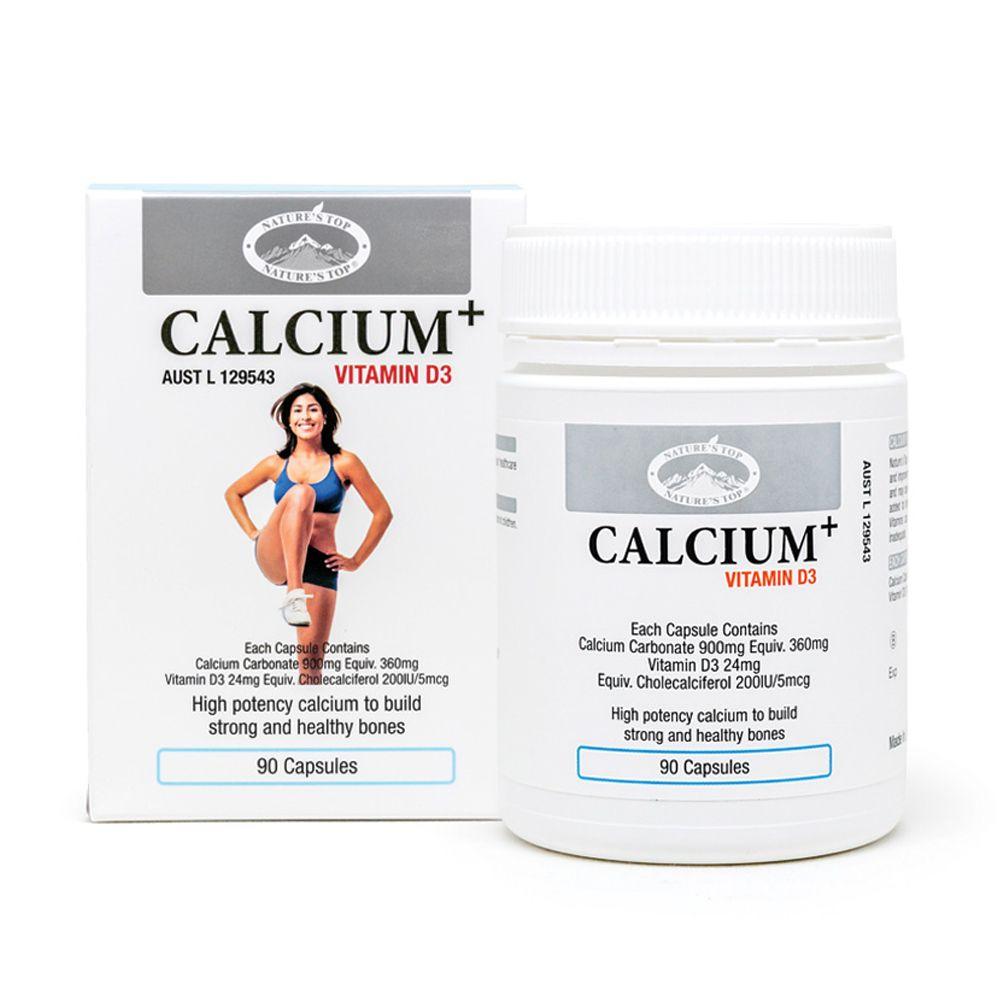 호주 네이쳐스탑 칼슘 플러스 비타민D3 1500mg 90캡슐