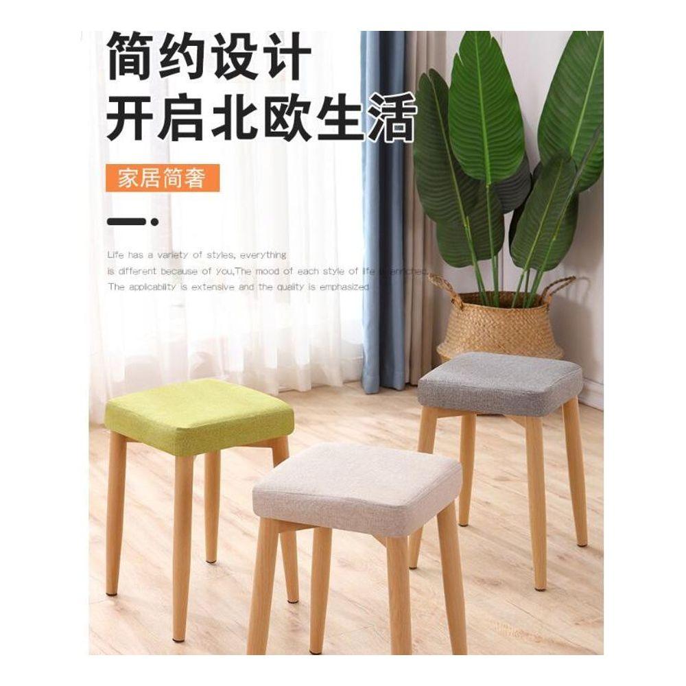 유럽풍 네모 걸상 식탁 의자 패션 스툴 화장대 의자