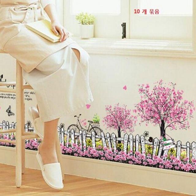 10개묵음창의적인방안벽복도Kicking Line 벽장식소품 주방벽지 시트지