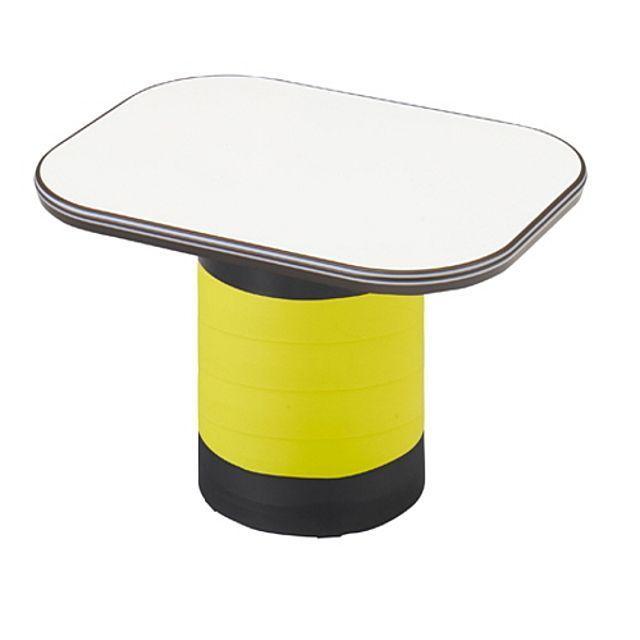 좌식 수납 테이블 옐로우 탁자 거실 다용도 작업 책상