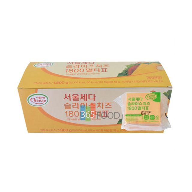 서울우유 체다슬라이스치즈 1800g 100매
