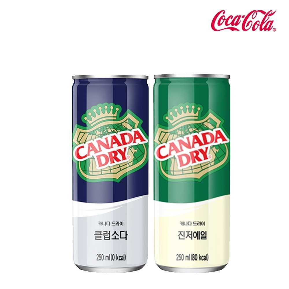 캐나다드라이 소다/에일 250ml X 각15개(총30개)