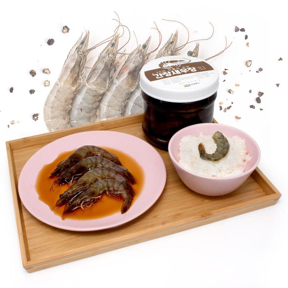 군산 시골 간장새우장 맛집 친척 새우장 만들기 1kg