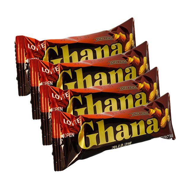 가나 초코바 땅콩 50g 4개 아이들 간식 초콜릿