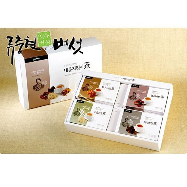 류충현 내몸지킴이 버섯차 세트(4가지 맛) 120티백