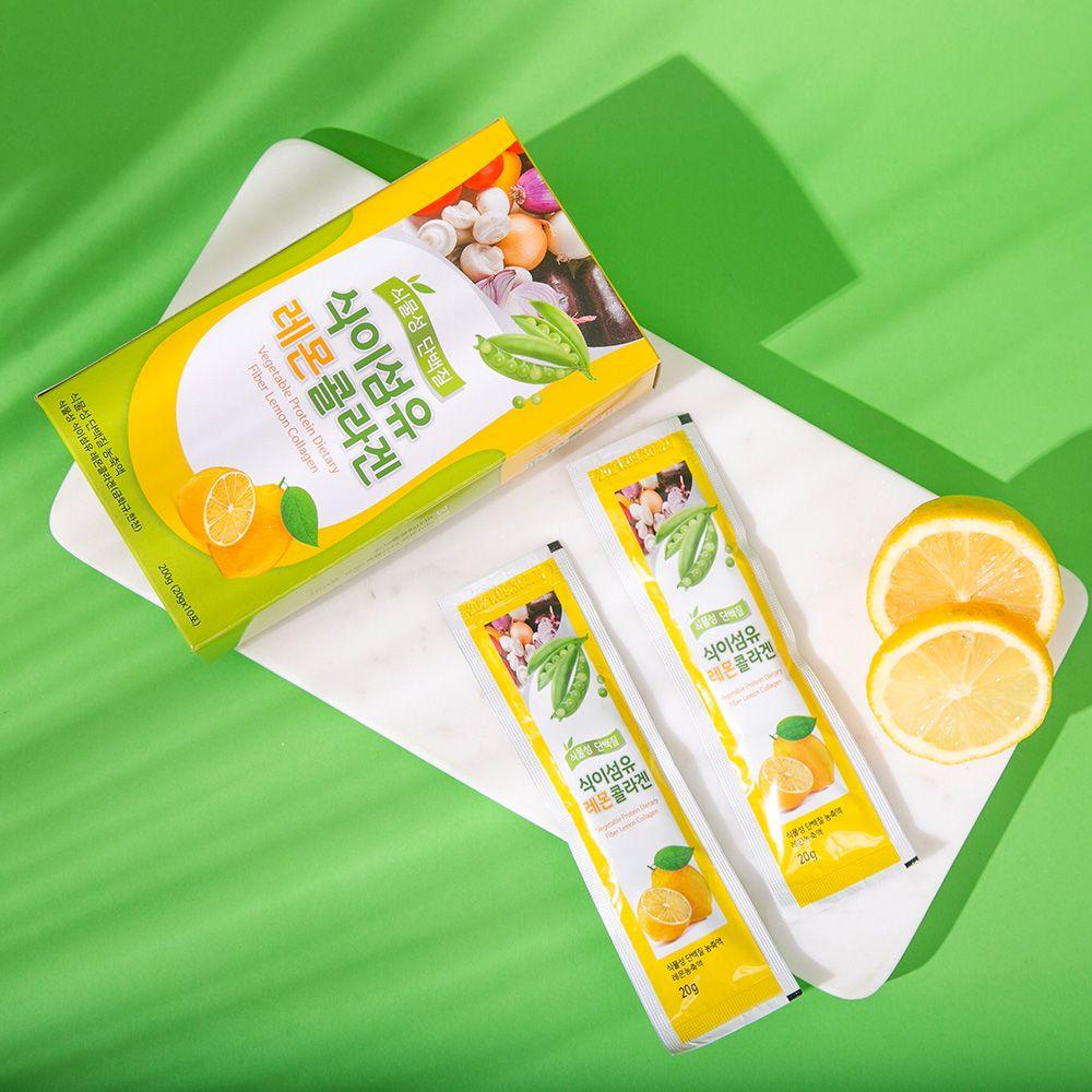 오강푸드 식물성 레몬 콜라겐 식이섬유 비건 20gx10포