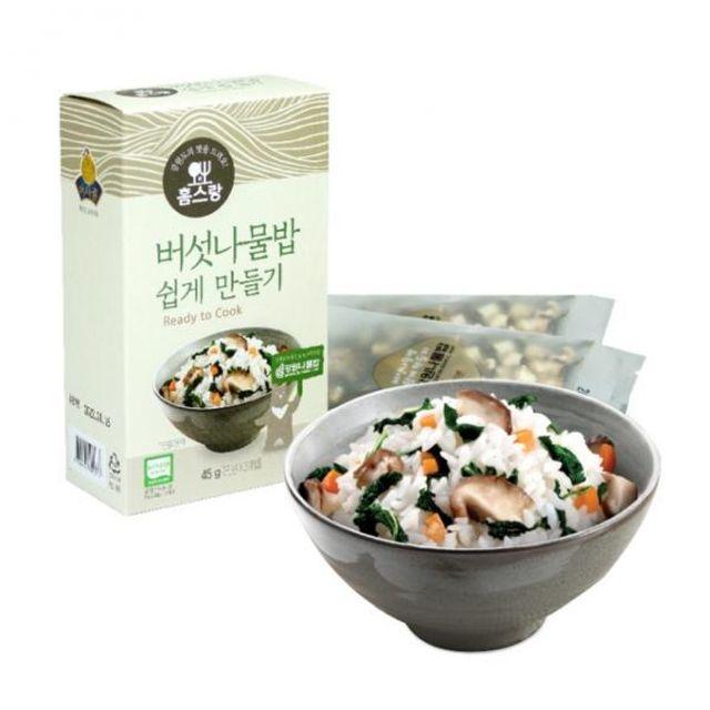 버섯나물밥 쉽게만들기
