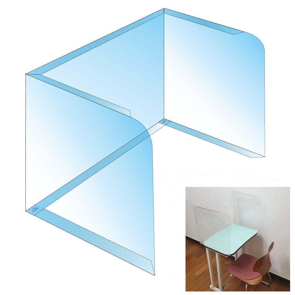 접이식 투명칸막이 ㄷ형 1매 책상가림막