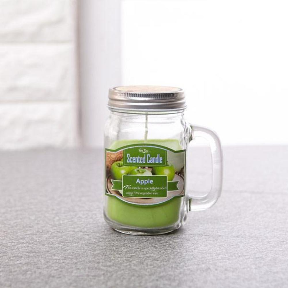 머그 양초 대 사과 향초 캔들 양초 티라이트 컵초
