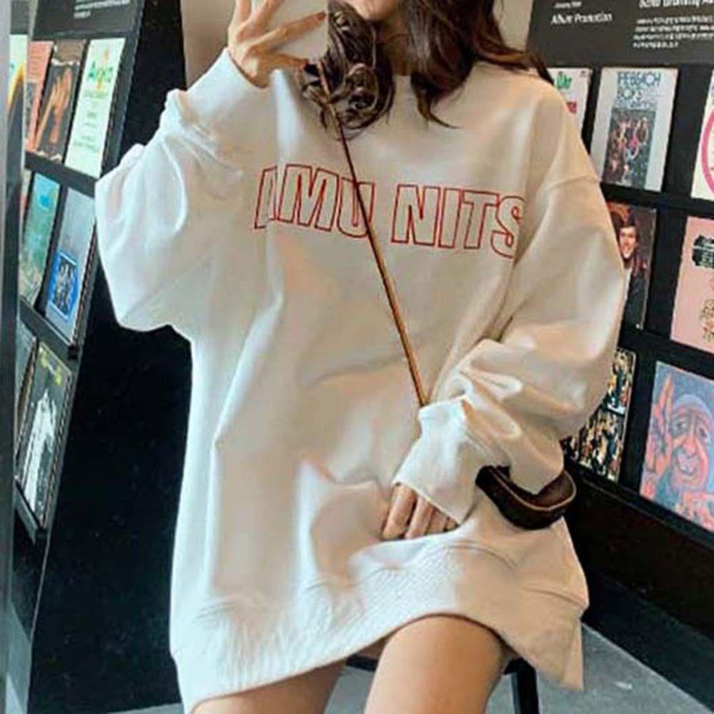 여성 가을 겨울 데일리 패션 라운드넥 맨투맨 티셔츠