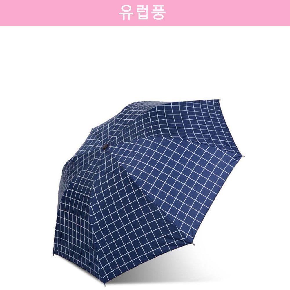 자외선 차단 유럽풍 암막 양산/우산 네이비