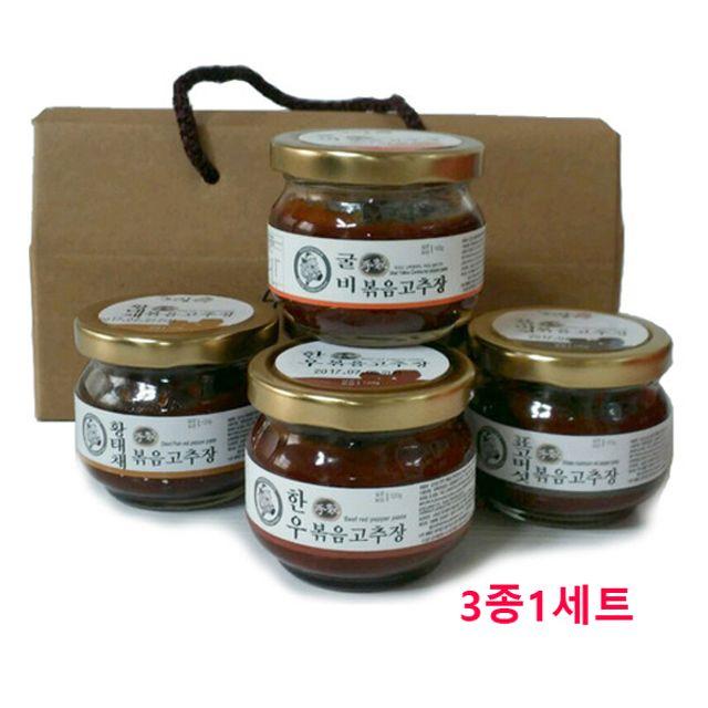 볶음고추장 120g 선물세트(3종 1세트) 간편식품