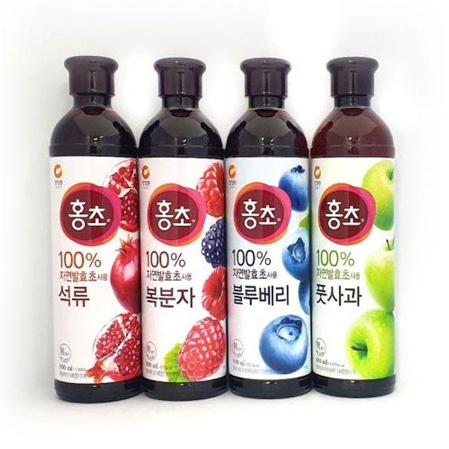 자연발효 홍초 900ml 석류 식초