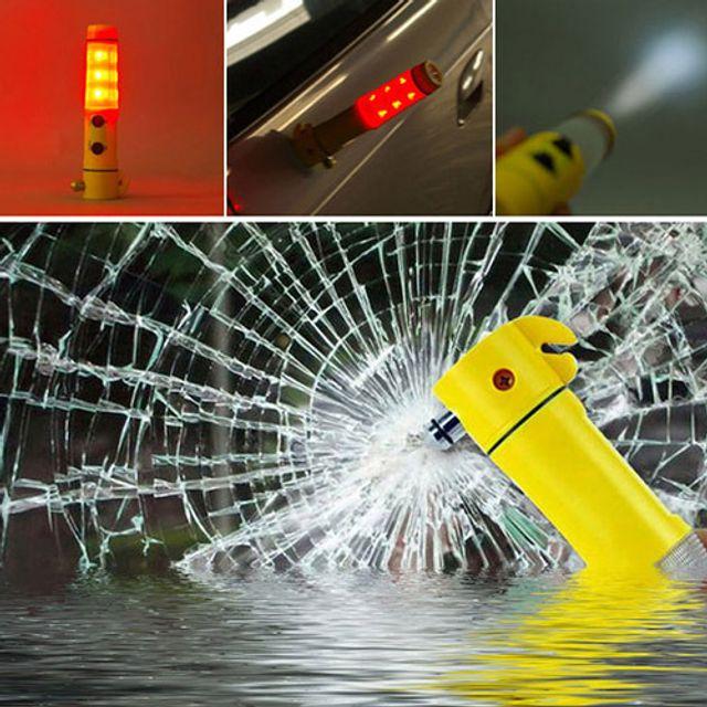 다기능 경광봉 차량 비상탈출 망치 안저벨트 커터기