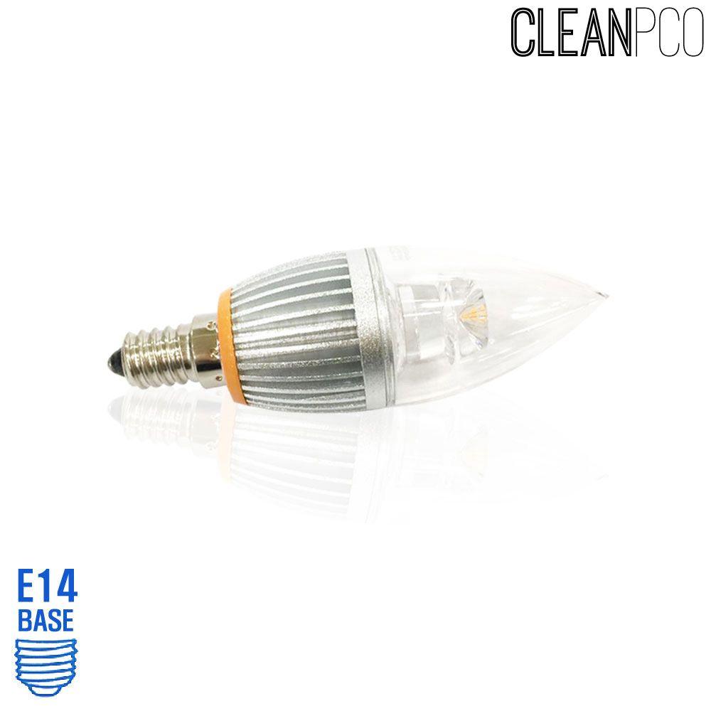 아텍스 LED 투명 촛대구램프 4W 전구색 촛