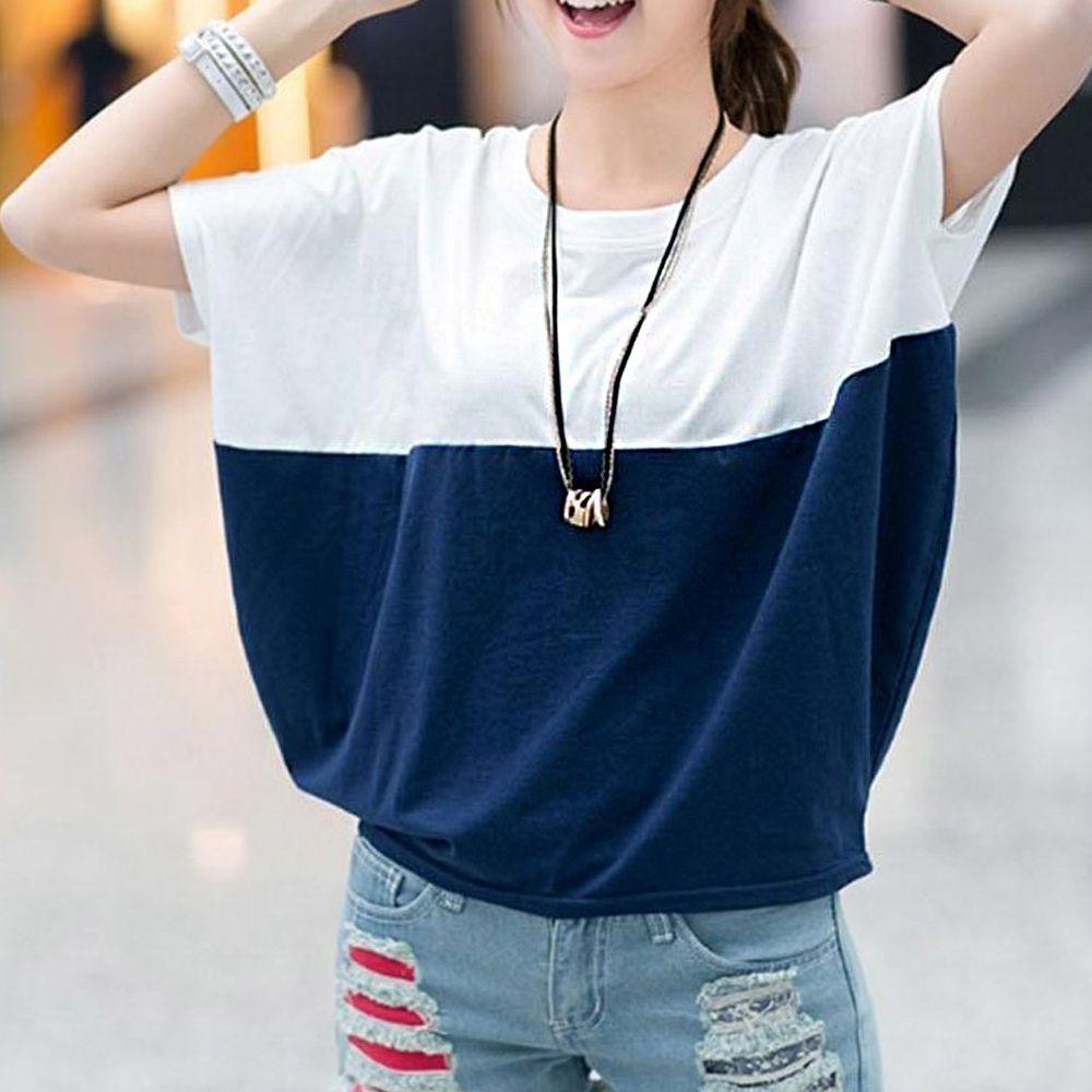 여자 라운드 티셔츠 깔끔한 반팔티 캠퍼스룩 코디