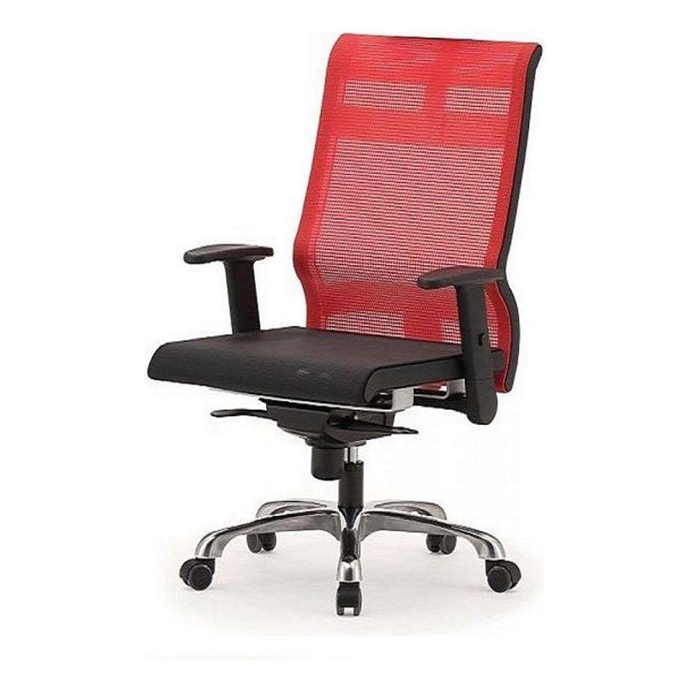 메쉬 회전 의자 DN-투톤-빨강 (중) 알루미늄발 학생