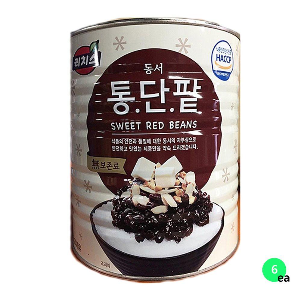 동서 빙수팥 빙수재료 팥빙수 통조림 3KX6