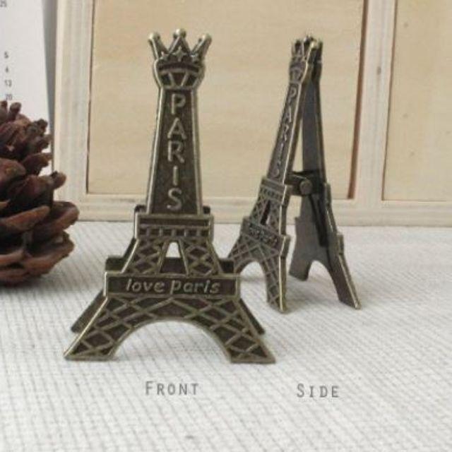 사무실 책상 화장대 테이블 꾸미기 에펠탑 집게 2p