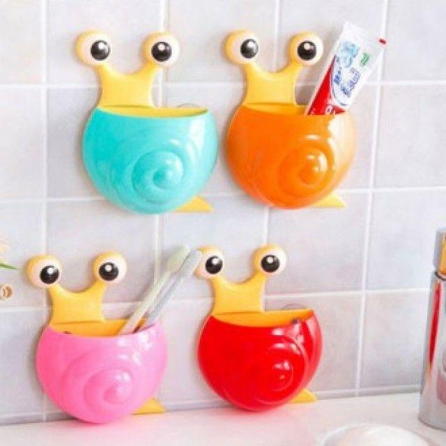 W0D9993 생활 건강>욕실용품>욕실잡화>샤워용품 달팽이 칫솔꽂이 칫솔걸이 칫솔홀더